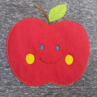 Fröhlicher Apfel